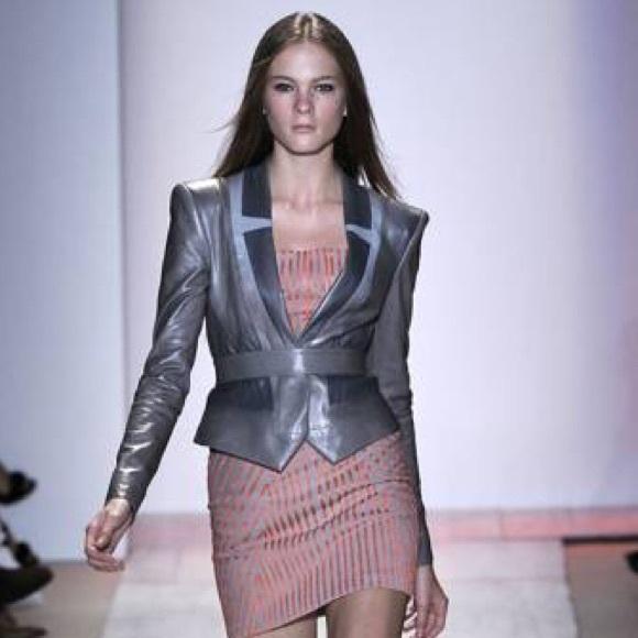 Herve Leger Jackets & Blazers - Herve Leger Leather jacket